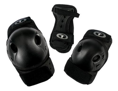 Kit Proteção Adulto Patins Skate Rollers - Traxart + Brinde