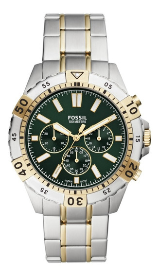 Reloj Caballero Fossil Garrett Fs5622 Color Plata De Acero