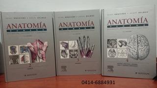 Libros Anatomia Rouviere Fisicos Tomos 2, 3, 4 Medicina