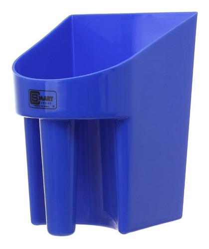 Imagem 1 de 2 de Pegador Em Plástico Para Ração E Água Azul Smart Choice 2811