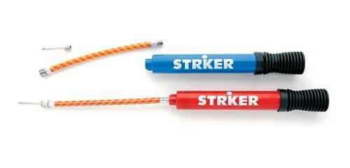 Inflador Doble Accion  Con Pico Striker  - Gymtonic