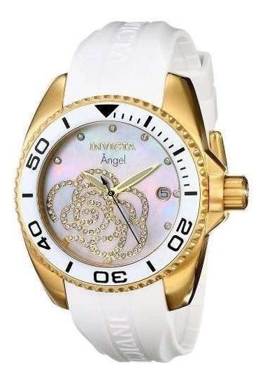 Relógio Invicta Feminino 0488 Angel Banho Em Ouro 18k