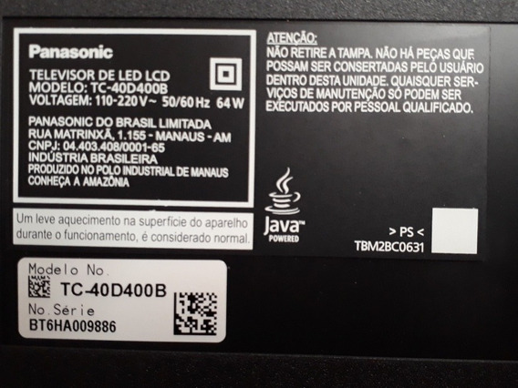 Placa Tv Panasonic Led T-c40d400b