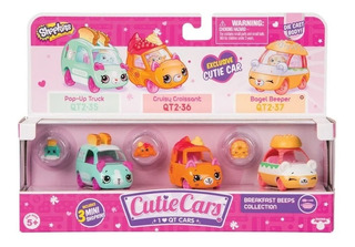 Shopkins Cutie Cars Metals 3 Vehiculo 3 Mini Fig 56737 Edu
