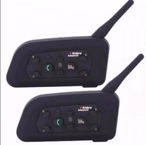 2 Intercomunicador Comunicador Capacete Moto V6 Intercom