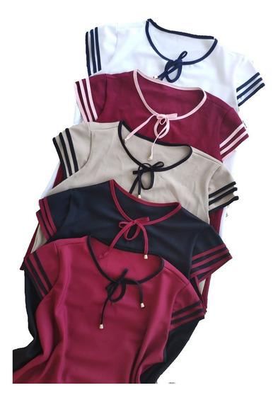Atacado 5 Blusas Plus Size Femininas Vários Modelos Kit Moda