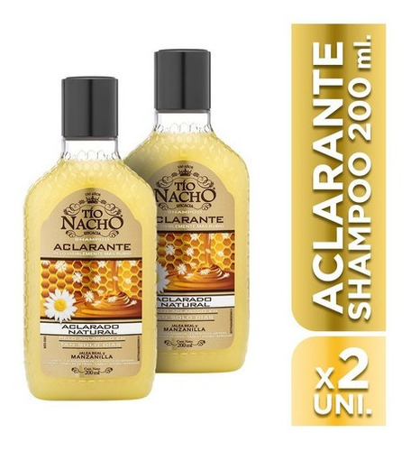 Tío Nacho Shampoo Aclarante 200ml X 2 Unidades