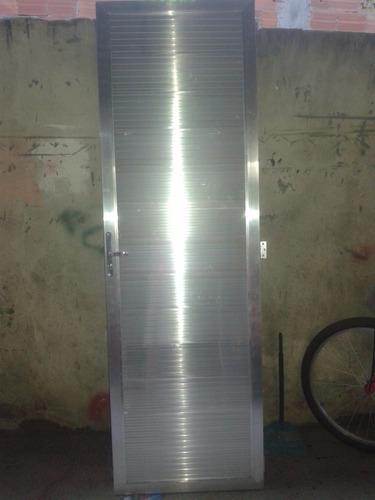 Porta De Aluminio 2.10x0.80 M