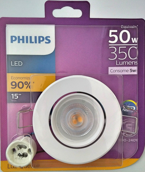 Spot Led Redondo 5w 350lm Gu10 Bivolt Philips