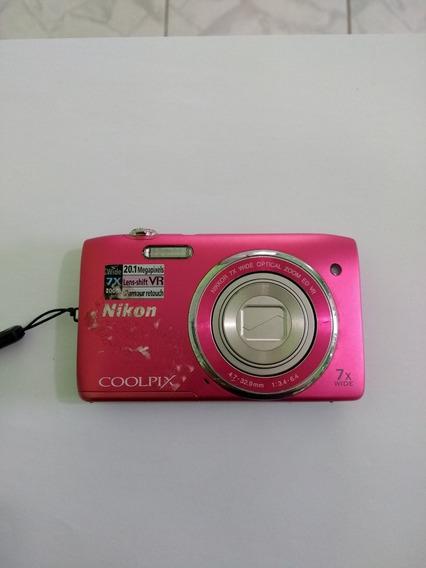 Camera Nikon Coolpix S3500 Defeito