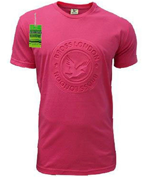 Remera Bross London Ave Estampa Relieve Color
