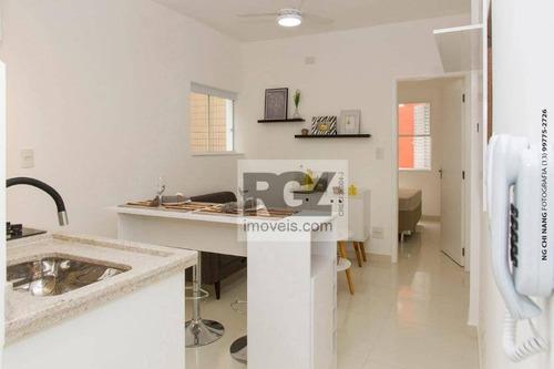 Kitnet Com 1 Dormitório À Venda, 36 M² Por R$ 178.000,00 - Itararé - São Vicente/sp - Kn0128