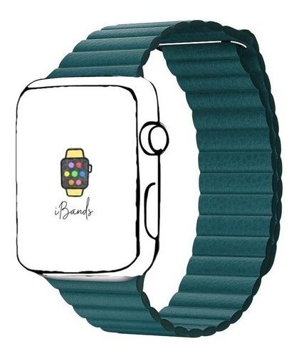 Imagem 1 de 1 de Pulseira Ibands Couro Loop Magnético Para Apple Watch