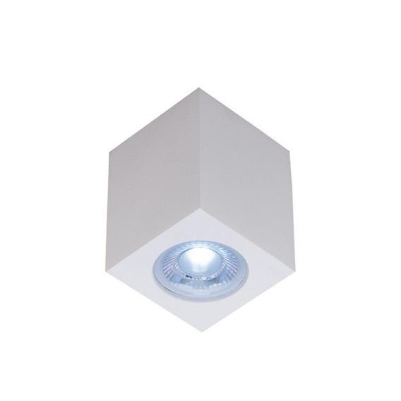 Plafon Quadrado Pequeno 661 Bmt Branco Ideal