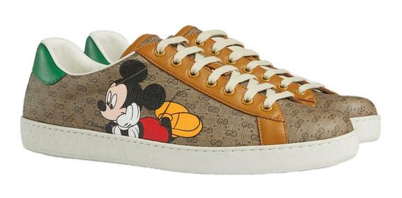 Tenis Gucci Con Diseño De Mickey Mouse