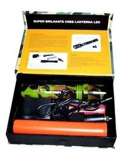 Lanterna Tatica Swat Camuflada + Bastão De Emergência