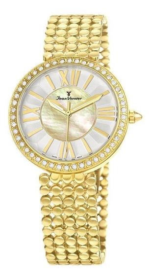 Relógio Jean Vernier Feminino Ref: Jv1320 Fashion Dourado