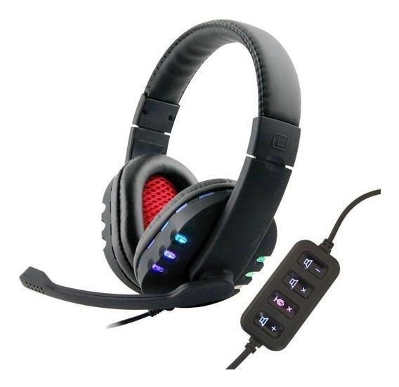 Fone Headset Vídeo Gamer Usb Boas 9700 Ps3 Ps4 Pc N F