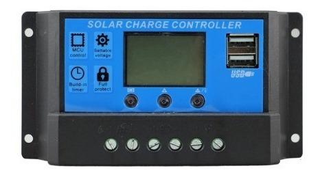 Controlador De Carga Para Painel Solar 30a Pwm 12 E 24v