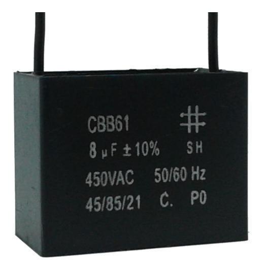 3 Unids Capacitor Partida 8uf X 450vac Fio Cbb61 40/85/21