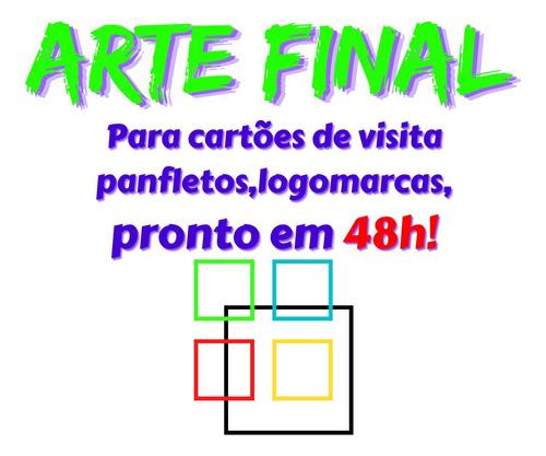 Arte Final Para Cartões,panfletos,logomarcas