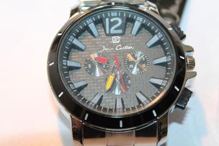 Reloj Jean Cartier Hombre Metalico Cuarzo Original Con Bisel