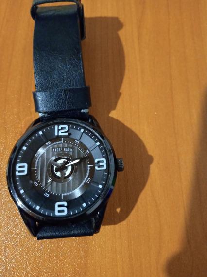 Reloj André Vadi,piel De Correa Delgada,color Negro,ajustabl