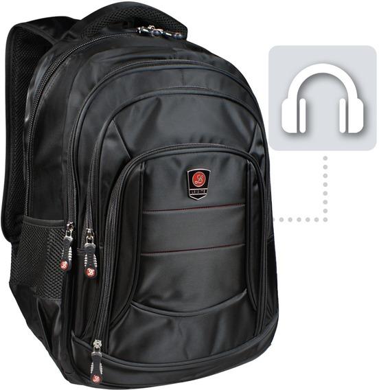 Mochila Notebook 15.6 Impermeável Dell Hp Apple Saída Áudio