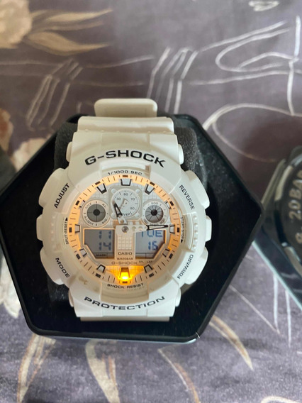 G-shock Último Modelo Lindo Novo Caixa E Manual Branco