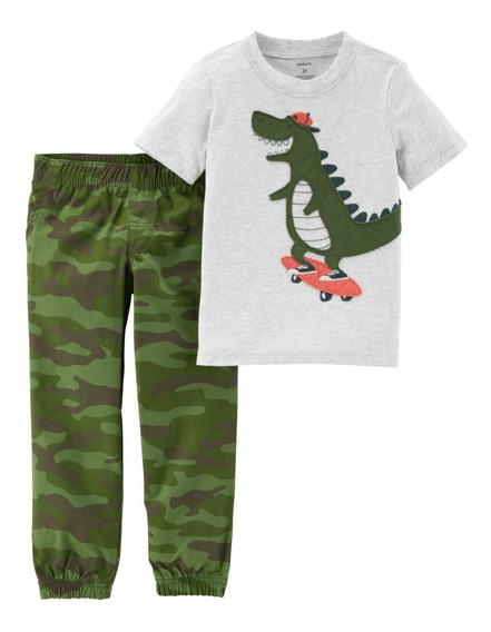 Carters 2 Pçs Camiseta Calça Menino Pronta Entrega 229g844