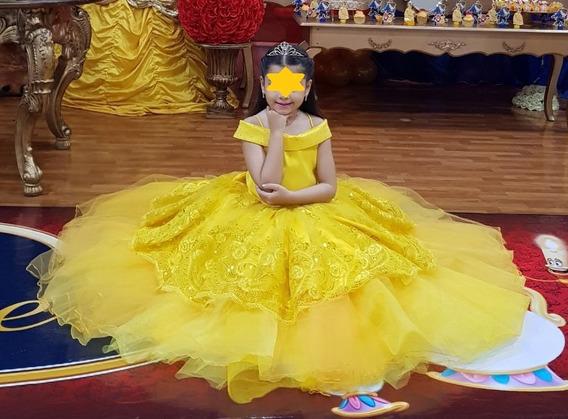 Vestido Infantil Princesa Bella (único)