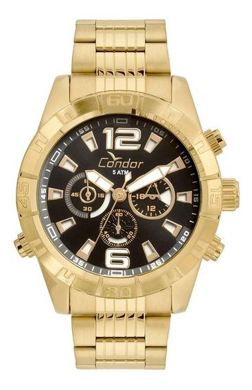 Relógio Condor Masculino Dourado Covd54aw4p