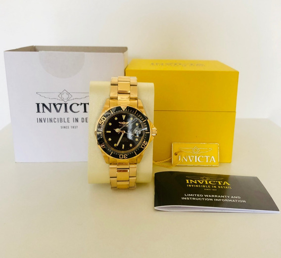 Relógio Invicta Original Ouro 18k 8929 Resistente A Água Aut