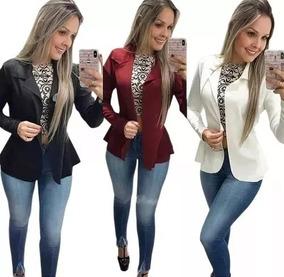 587e4cf935 Blazer Neoprene Terninho Casaco Social +calça Flare Bandagem