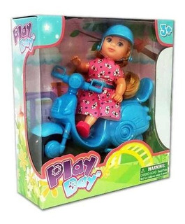 Muñeca Articulada Con Moto Y Accesorios Simil Barbie