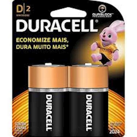 Pilha Duracell Alcalina D-grande 2x1-ne