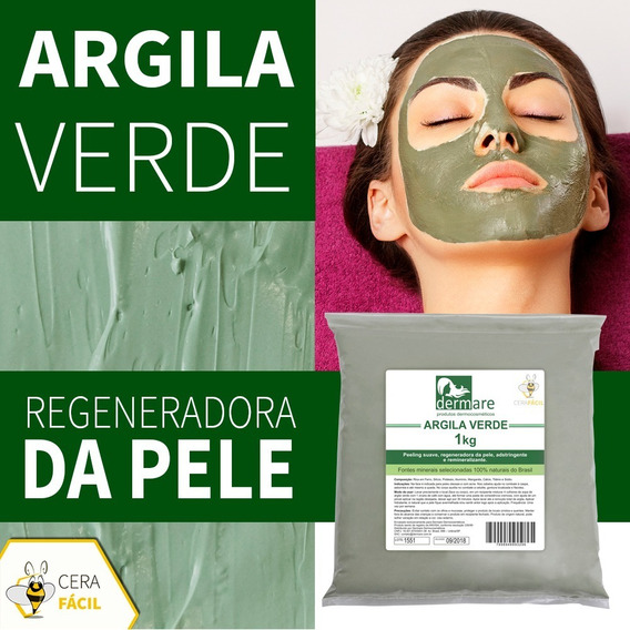 Argila Para Estética Verde 1kg Dermare