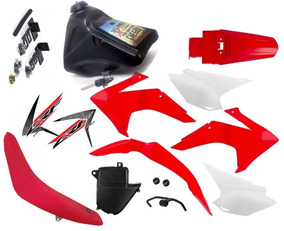 Kit Plástico Carenagem Crf 230 Dt180 Tanque Banco Torneira