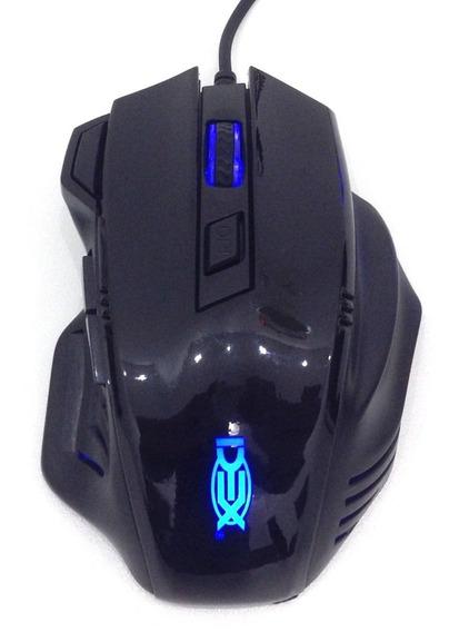 Mouse Gamer 3200 Dpi Luz De Led 7 Botões C/ Botões De Tiro