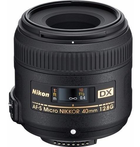 Lente Nikon 40mm F/2.8g Af-s Dx Micro-nikkor Macro Na Caixa