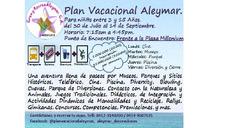 Plan Vacacional Aleymar Ultima Semana Del 10 Al 14 Sep 2018