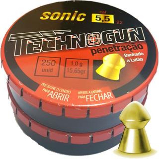 Chumbinho 5.5 Carabina De Pressão Sonic Penetração 500 Unds