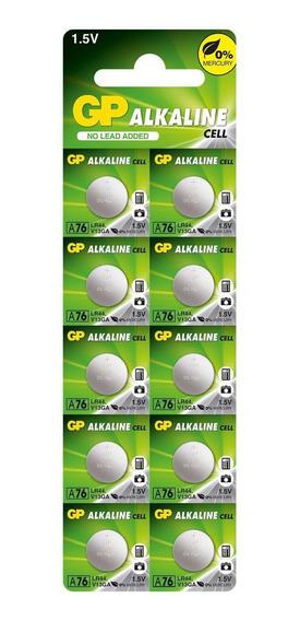 10 Pilhas Bateria Lr44 A76 Ag13 Alcalina Gp - 1 Cart C/10