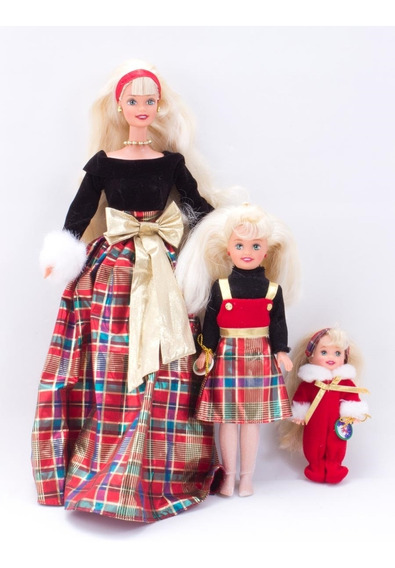 Bonecas Barbie, Kelly E Stacie Holiday Sisters Giftset - Mat
