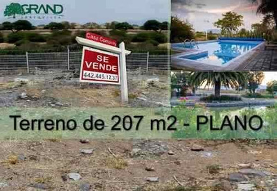 Se Vende Terreno Plano De 207 M2 En Grand Juriquilla