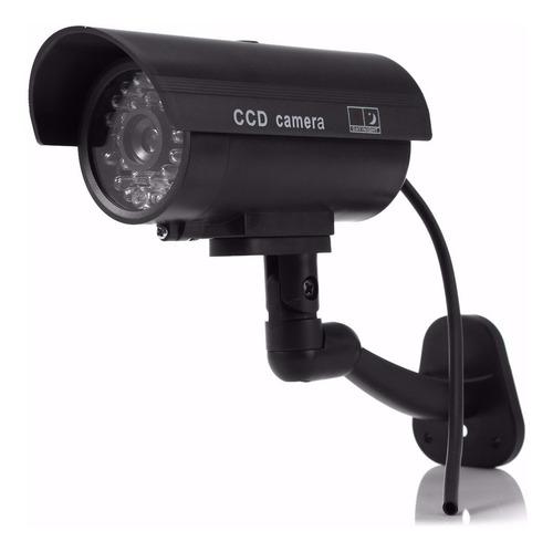 Camara Falsa De Seguridad Cctv  Con Luz Led Intermitente