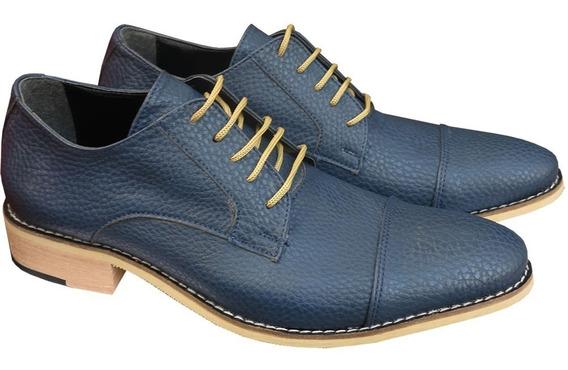 Zapatos De Hombre Vestir Base De Cuero Goma Grandes Especial