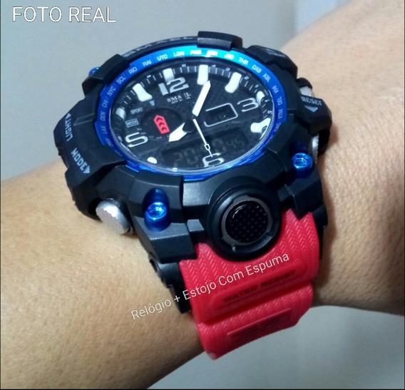 Relógio Pulso S Shock Prova Dágua Esportivo Digital Smael