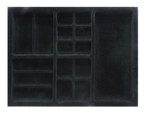 Porta Jóias 440 X 340mm Pj-03av - Preto Aveludado - Trava F