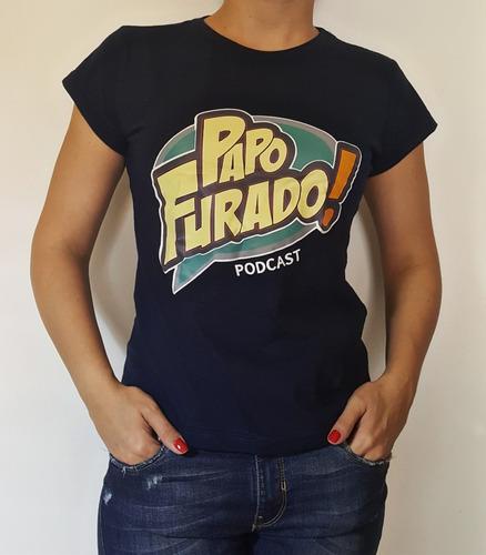 Camisa Papo Furado Podcast Feminina (azul Marinho)